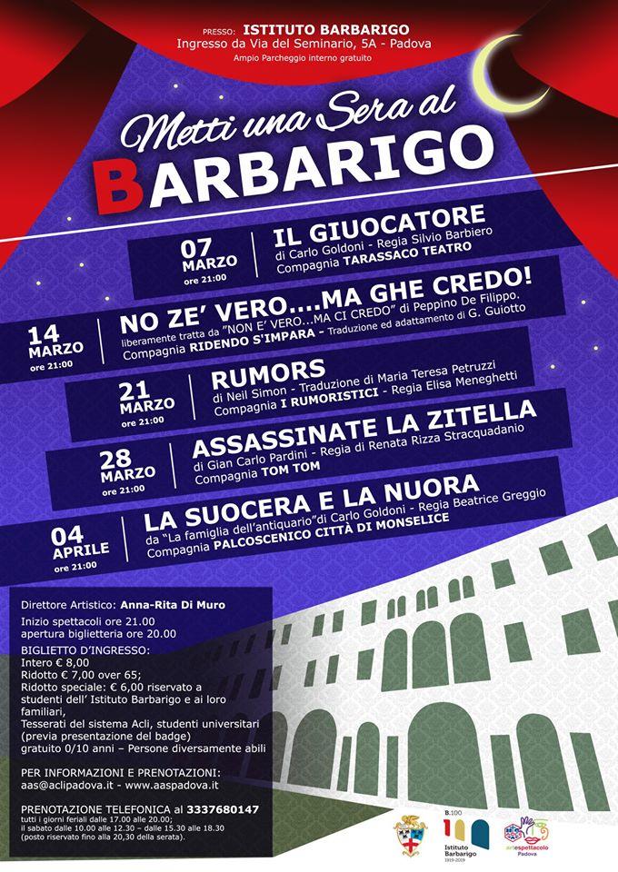 Metti una sera al Barbarigo - rassegna primaverile 13
